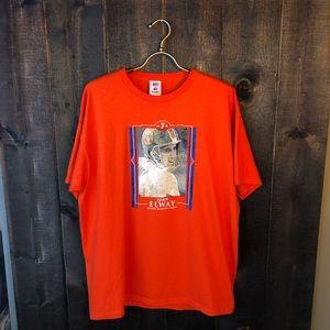Vintage NFL John Elway Denver Broncos T-shirt